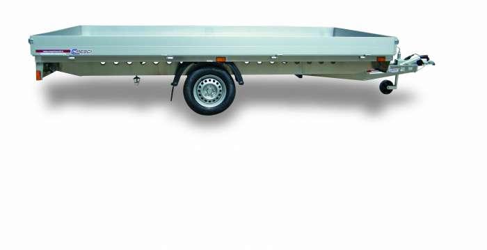 Rimorchi trasporto cose 750R telaio realizzato interamente in alluminio