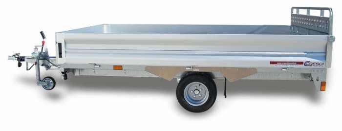 Rimorchi trasporto cose con rampe di salita PT15XL