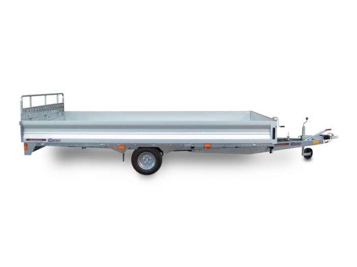 Rimorchi trasporto cose e veicoli con rampe di salita PA15C basculante con martinetto meccanico