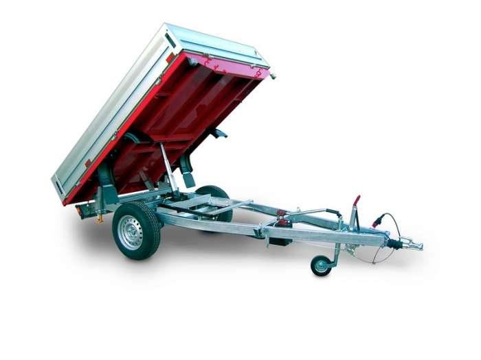 Rimorchi trasporto cose RB14 ribaltabile posteriore idraulico manuale
