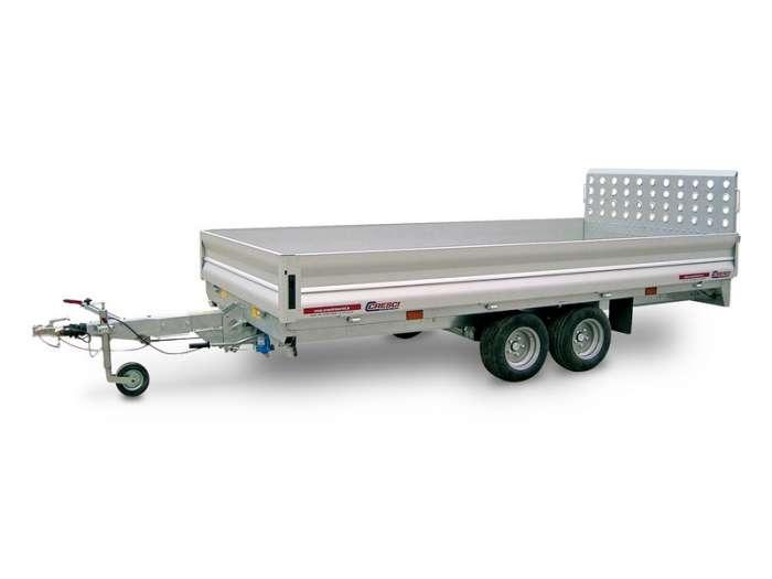 Rimorchi trasporto cose con rampe di salita PT25 ribaltabile idraulico