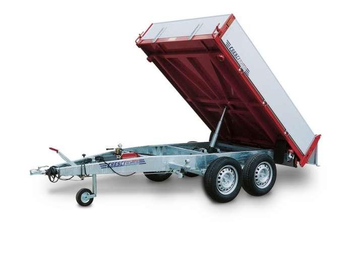 Rimorchi trasporto cose RB20 ribaltabile trilaterale elettroidraulico