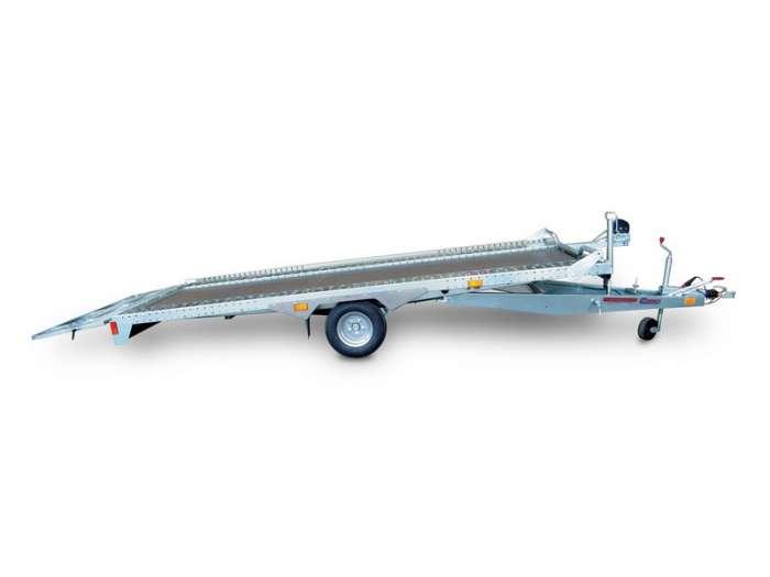 Rimorchi trasporto cose e veicoli con rampe di salita PA15 basculante con martinetto meccanico