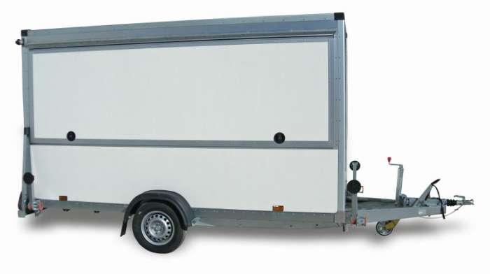 Rimorchi furgonati FM13 Ideale per banco mercato