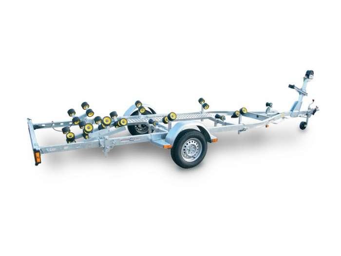 Rimorchi trasporto imbarcazioni  N750B-R / N100B-R Traversa posteriore basculante multirullo di serie