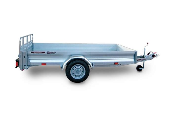 Rimorchi trasporto cose con rampe di salita PT7C/L robusta rampa di carico ideale per salire qualsiasi veicolo