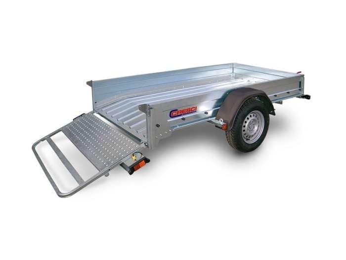 Rimorchi trasporto cose con rampe di salita PT7C/PT7CE robusta rampa d carico ideale per salire qualsiasi veicolo