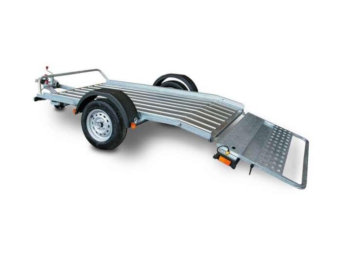 Rimorchi trasporto cose con rampe di salita PT7/PT7E robusta rampa di carico ideale per salire qualsiasi veicolo