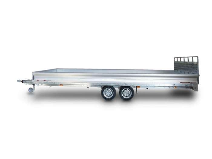 Rimorchi trasporto cose e veicoli con rampe di salita PT35L ribaltabile idraulico
