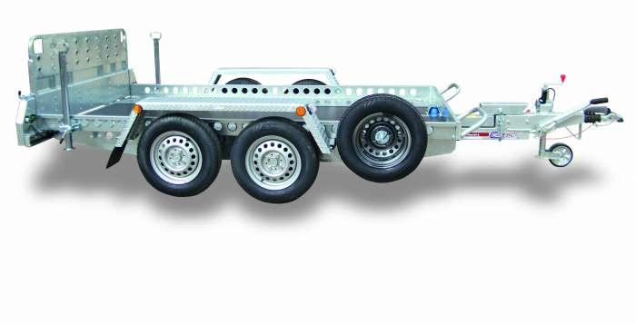 Rimorchi trasporto cose e veicoli con rampe di salita TMF ribaltabile idraulico