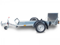 Trailers for transporting goods and vehicles with loading ramps PT4 S.F.  no brakes