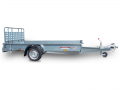 Trailers for transporting goods and vehicles with loading ramps TR15